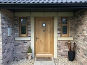 Oak entrance door set